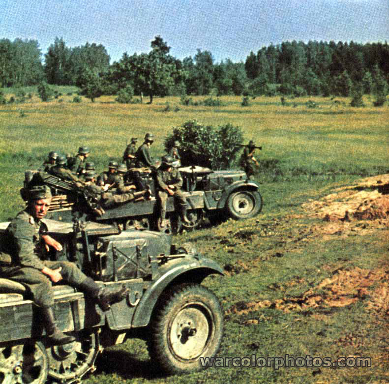 Soldiers of 3rd Panzer Division, Summer 1941