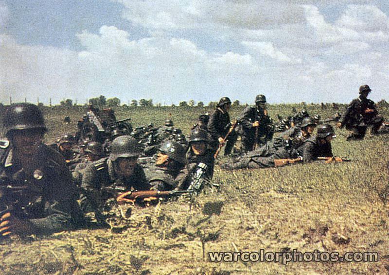 Infantry Summer 1942 World War 2 Color Photo