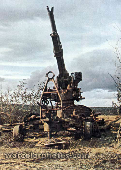 Destroyed Soviet AA Gun