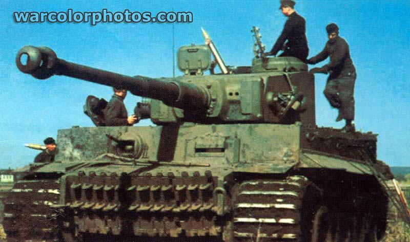 Tiger Tank World War 2 Color Photo